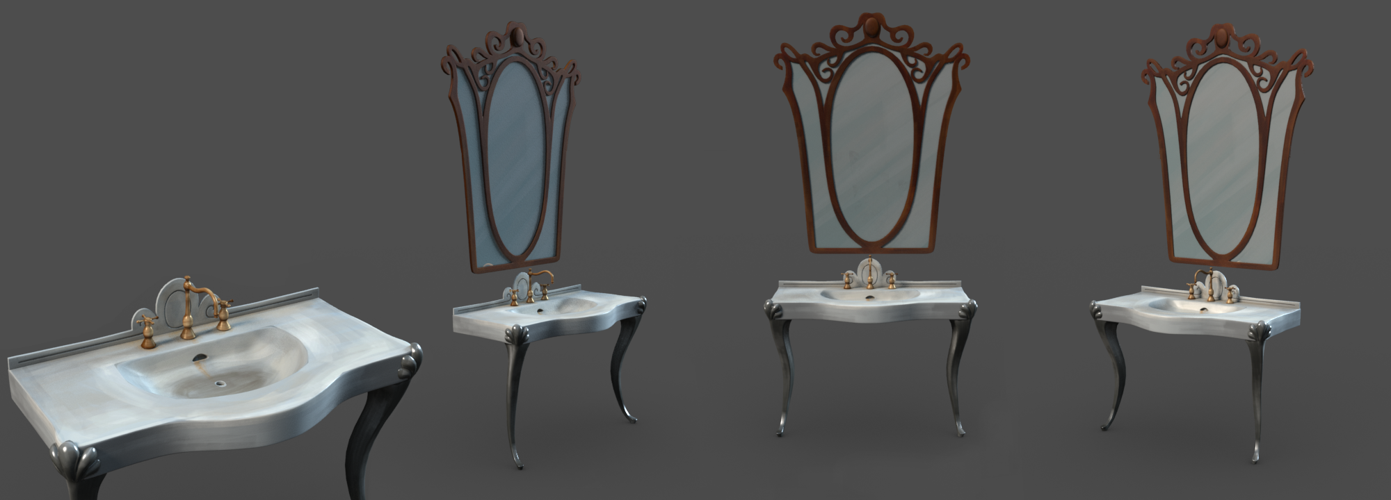 Sink & Mirror Render